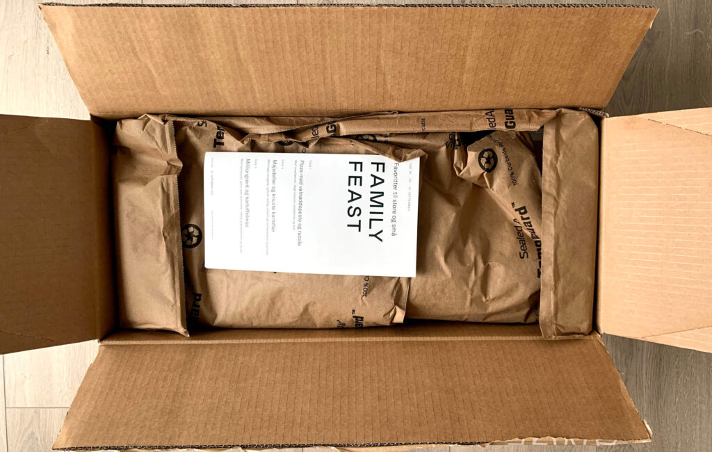 Emballage i Simple Feast måltidskasse