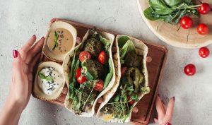 Lækre vegetar tacos med dip
