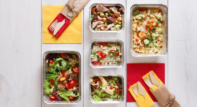 Fitness måltider i portionsanretninger
